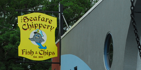 Chippery sign at 383 South Avenue Fanwood NJ