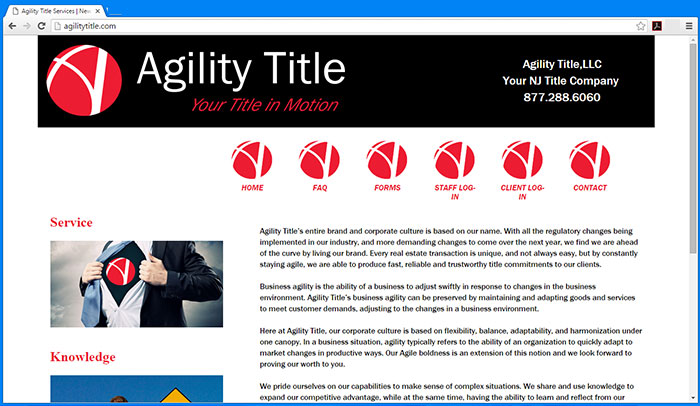 Agility Title website