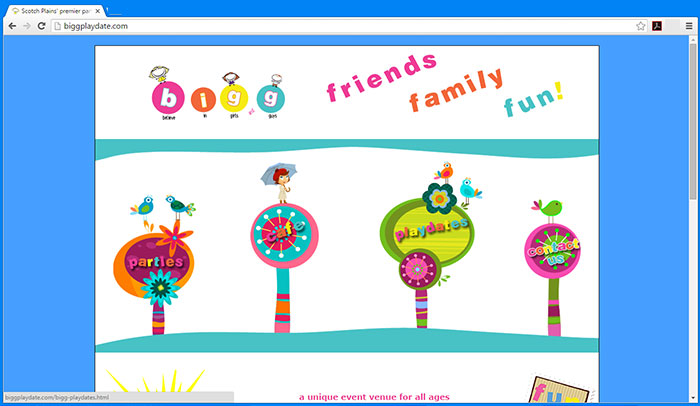 Bigg Playdate website