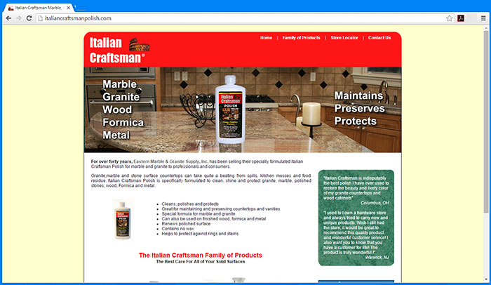 Italian Craftsman Polish Website